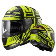 KASK MOTOCYKLOWY LS2 FF320 STREAM BANG BLACK YELLOW - INTEGRALNY, BLENDA