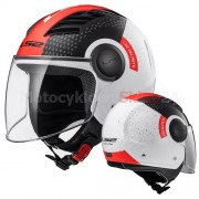 KASK OTWARTY LS2 OF562 AIRFLOW L CONDOR WHITE BLACK RED