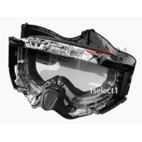 GOGLE motocyklowe Cross ENDURO LEOSHI - BLACK & WHITE