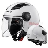 KASK OTWARTY LS2 OF562 AIRFLOW L SOLID WHITE / BIAŁY