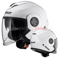 KASK OTWARTY LS2 OF570 VERSO SOLID WHITE / BIAŁY